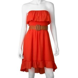 IZ Byer California Ruffled Strapless Dress XS